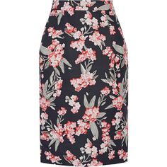 Jonathan Saunders Floral-print twill skirt (£140) ❤ liked on Polyvore featuring skirts, black, jonathan saunders, multi color skirt, twill skirt, colorful skirts and flower print skirt