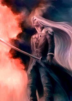 Sephiroth. Fan art. Final Fantasy VII.