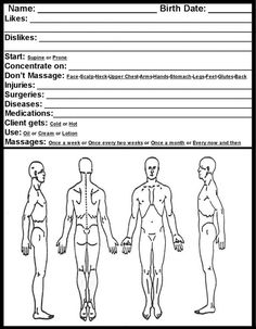 Soap Note Massage Therapy Blank  Google Search  Lmt