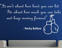 Rocky Balboa Quotes   Rocky Balboa Inspirational Quote Wall ART Sticker Transfer Tattoo ...