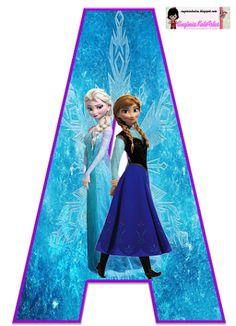 Frozen: Free Elsa and Ana Alphabet. Frozen: Bello Alfabeto Gratis de Elsa y Ana. Frozen Themed Birthday Party, Disney Frozen Birthday, Elsa Birthday, Frozen Party, Ana Frozen, Frozen Free, Frozen 1, Frozen Wallpaper, Frozen Cake Topper