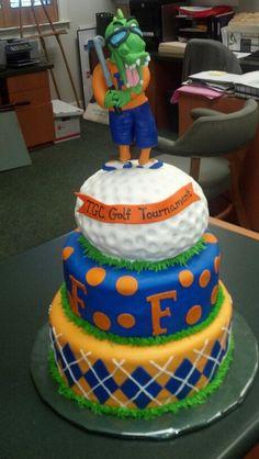 UF University of Florida Gators Golf Tournament Cake