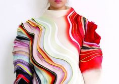 art of using layers of ruffles and colour in couture fashion sivan nisheri! Fashion Details, Look Fashion, Fashion Art, High Fashion, Womens Fashion, Fashion Design, Net Fashion, Editorial Fashion, Fashion Outfits