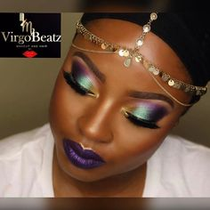 "4,226 Likes, 39 Comments - Juvia's Place (@juviasplace) on Instagram: ""@virgo_beatz ・・・ #MardiGras Eyes: #juviasplace masquerade palette (Purple & Green)"""