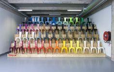 Les 50 coloris de la chaise Tolix A