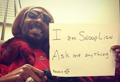 """Snoop Lion tells Reddit he smokes 81 blunts a day, is trying to buy Hostess and has a metal band called """"tha 9 Inch Dixx"""""""
