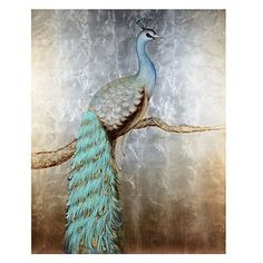 Peacock Perch Canvas Art Print | Kirkland's