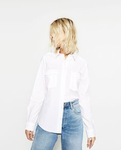 30 Easy-To-Copy Styling Tips From Zara #refinery29  http://www.refinery29.com/2016/10/126411/new-zara-fall-clothing-collection-photos#slide-21  Master the half-tuck for a subtle styling detail.Zara Poplin Shirt, $39.90, available at Zara....