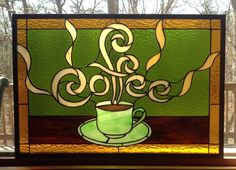 Coffee in stained glass