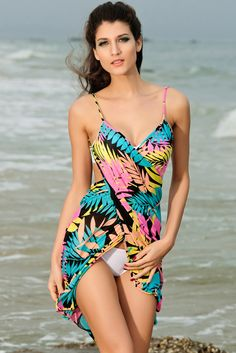 Hawaii Sexy Swimsuit Bikini Criss Cross Cover Up Front Wrapping Over Sarong Beach Dress