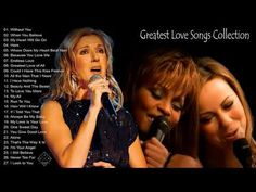Celine Dion, Mariah Carey, Whitney Houston Greatest Hits - World's best song 4 - YouTube Music Mix, Sound Of Music, Best Songs, Love Songs, When You Believe, Whitney Houston, Celine Dion, Mariah Carey, Great Love