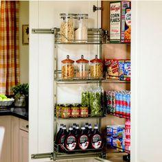 Amazing Pantries   Hafele Kitchen Door Pantry With Storage Baskets |  KitchenSource.com