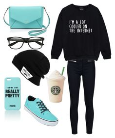 """Going to Starbucks <3"" by a29lnmnmu ❤ liked on Polyvore featuring Veronica Beard, Vans, Kate Spade and XxEmsHashTagxX"