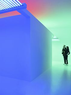 The Chromosaturation by Carlos Cruz-Diez relates to the idea that in the origin of every culture lies a primary event as a starting point.