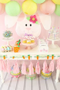 Einige Bunny Loves You Easter Party - Ostern - Easter Birthday Party, Bunny Birthday, 1st Birthday Parties, Ostern Party, Bunny Party, Some Bunny Loves You, Party Decoration, Craft Party, Foto Baby