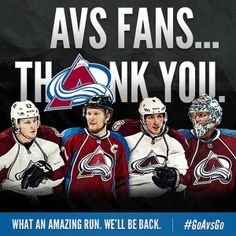 Thank you, Avs Nation. #GoAvsGo