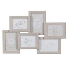 Cornice fotografica in legno beige