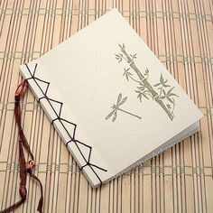 Bamboo and Dragonfly Japanese Stab Book.  No instructions - no tute