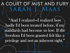 (dejamallory)Quotes from A Court of Mist and Fury by Sarah J. Maas ACOMAF P. The original photo contain a different quote so I just replaced it A Court Of Wings And Ruin, A Court Of Mist And Fury, Sarah J Maas Books, Different Quotes, Throne Of Glass, Book Fandoms, Love Book, Book Series, Book Quotes