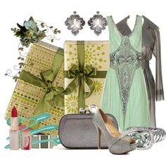 """Holidays and Sequins and Silvers and Smiles and Gifts"" by milladeyn on Polyvore"