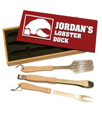 Custom 3 Piece BBQ Set $49.95 #Company #Promotional #Corporate #Business #Logo #BBQ #Grill #Custom #Personalized #NoMinimums