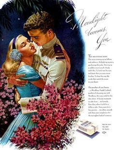 Edwin Georgi Woodbury Soap Navy Embrace Moonlight Becomes You 1944 Magazine Ad | eBay