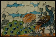 Tile panel   Pilkingtons Tile and Pottery Company   V&A Search the Collections