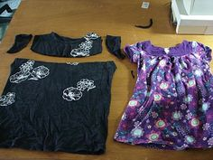 Easy t-shirt to toddler dress -- sewing girl clothing, reuse, recycle  I AM SO DOING THIS ONE!!