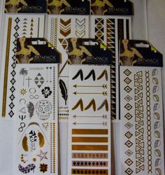NEW-TEMPORARY-METALLIC-TATTOOS-Your-Choice-Design-Body-Jewelry-Chains-TATTOOS. 3.49/sheet and free shipping.