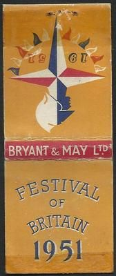 Festival of Britain. 1951. Matchbook.