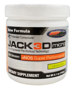 USP Labs Jack3d Micro eNos Super Performance  , No DMAA l Rock Bottom Fitness