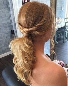21. Ponytail for Brides or Bridesmaids If you are getting ready to be a bride and are wondering what kind of hairstyle you are going to have for your big day, think about having this style. It is elegant and gorgeous. Simple and not time consuming so you won't have to start getting ready so early …