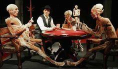 ''Human body statues'' Dr. Gunther von Hagens (Anatomist)
