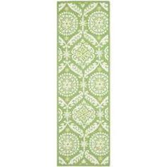 Hand-hooked Chelsea Heritage Green Wool Rug (2'6 x 10')