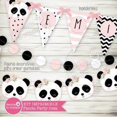 Panda Bear Cake, Bear Cakes, Panda Party, Party Printables, Twins, Baby Shower, Diy, Pink, Panda Decorations