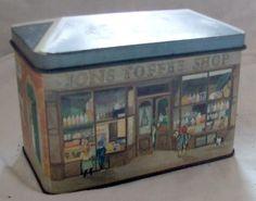 Vintage YORK CASTLE ASSORTED TOFFEE TIN - JONS TOFFEE SHOP | eBay