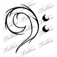 Marketplace Tattoo bass clef #2459 | CreateMyTattoo.com