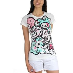Amazon.com: Tokidoki - Womens Agave T-Shirt: Clothing ($22) ❤ liked on Polyvore featuring tokidoki