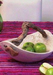 CUENCO RÚSTICO PASO A PASO Paper Mache Bowls, Paper Mache Clay, Paper Mache Crafts, Pottery Bowls, Ceramic Pottery, Pottery Art, Ceramic Art, Pasta Piedra, Leaf Projects