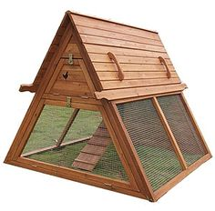 CHICKEN COOP WITH RUN - CHICKEN HEN HOUSE - FREE SHIPPING