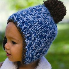 Baby Boys Caleb Beanie - Baby boys winter hats don t get cuter than this.  This peru styled beanie is a gorgeous blend of blues and brown. 6e5a6e7f6e97