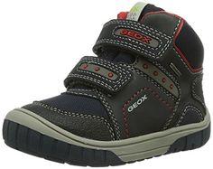 Geox B OMAR B BOY ABX - Zapatos primeros pasos de material sintético para niño, color azul, talla 23 EU (6 Baby UK)