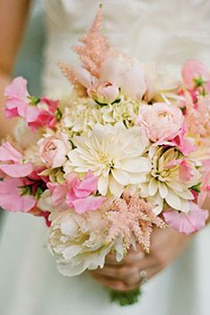 Pale-Pink-Astilbe-Sweet-Pea-Bouquet