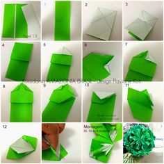 Terapia do Papel: TUTORIAL Kusudama AMAZÔNIA BRASIL - design Flaviane Koti