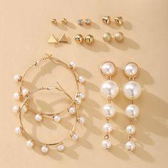 Vintage Classic Drop Earrings – klozetstyle.com Pearl Drop Earrings, Circle Earrings, Crystal Earrings, Statement Earrings, Women's Earrings, Flower Earrings, Square Earrings, Thing 1, Jewelry Party