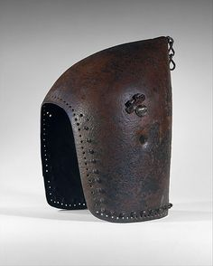 Culture: possibly French Medium: Steel Dimensions: Weight, 5 lb. cm) Width inside bowl at hinges, 7 in. cm) Diameter at top of face opening, 8 in. Medieval Helmets, Medieval Armor, Armor All, Arm Armor, Helmet Head, Jeanne D'arc, Armadura Medieval, Late Middle Ages, Joan Of Arc