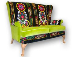 Suzani Patchwork Parker Knoll sofa by JustinaDesign on Etsy, £795.00