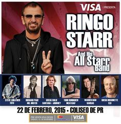 #RingoStarr and his All Star Band is an event that you can not miss. This February 22th you must stay at http://www.hotelplazadearmaspr.com and enjoy a very special discount when booking to stay with us, along with this fabulous event. Call us at 787-722-9191 or email us at plazahj@gmail.com We are waiting for you #oldsanjuan