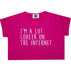 A Lot Cooler on the Internet Crop Top T Shirt Tee Womens Girl Funny... ($14) ❤ liked on Polyvore featuring tops, t-shirts, crop tops, black, sweater vests, sweaters, women's clothing, hipster t shirts, black sweater vest and loose crop top