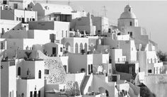 athens greece black and white photos | Houses in Santorini, Greece. Much Greek housing has traditionally been ...